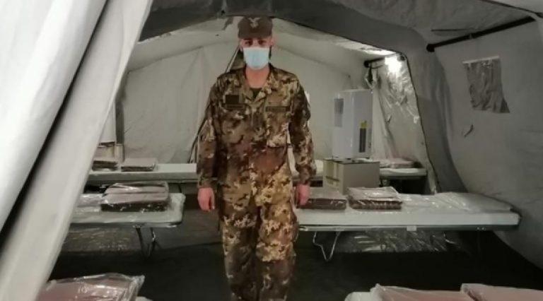 Ospedale Cardarelli tenda esercito