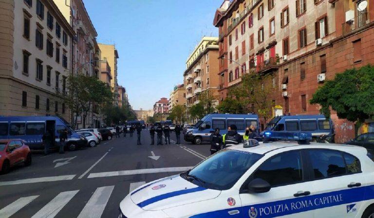 Sgombero sede di Forza Nuova a Roma