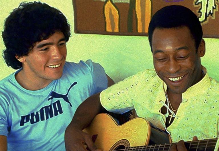 Maradona e Pelé: amici ed eterni rivali