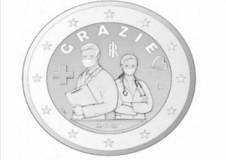 moneta da 2 euro dedicata a medici e infermieri