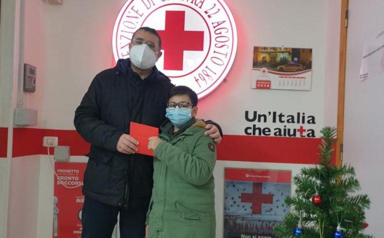 Il gesto del piccolo Mario in favore della Croce Rossa