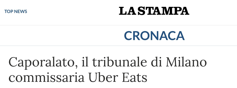 uber eats la stampa
