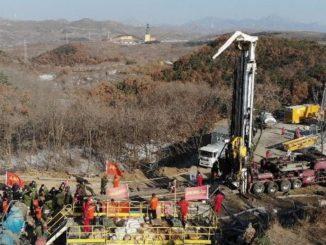 Crollo in una miniera della Cina