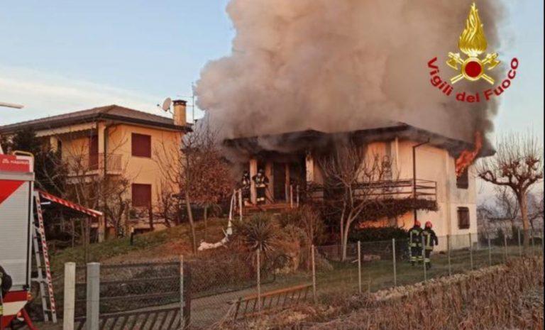 Esplosione in una villetta della provincia di Padova