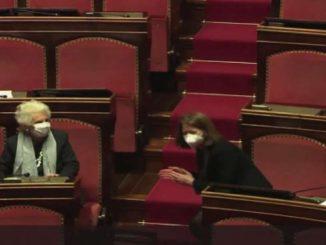 Governo, Liliana Segre in Senato: Aula in piedi e applausi