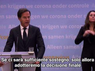 Coprifuoco in Olanda, Rutte: solo con il sostegno del parlamento