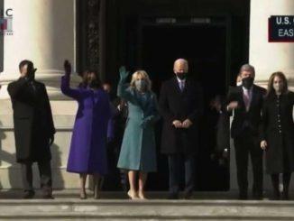 Ecco l'arrivo di Joe Biden e Kamala Harris a Capitol Hill