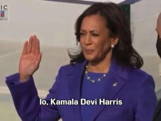 Kamala Harris vicepresidente giura davanti a Sonia Sotomayor
