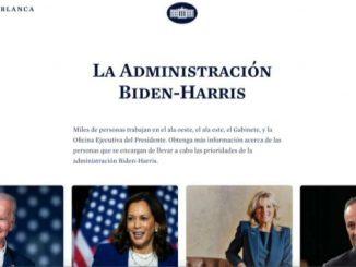 Il sito della Casa Bianca: simbolo del cambio di rotta