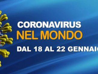Il Coronavirus nel Mondo, 18-22 gennaio 2021