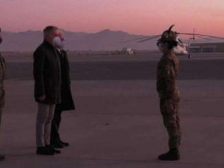 Il ministro della Difesa Guerini in visita in Afghanistan