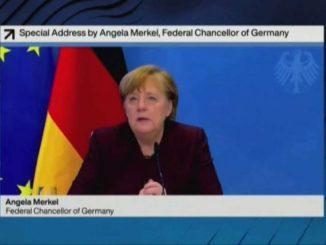 Merkel e Macron a Davos: equità sui vaccini, salvare vite umane