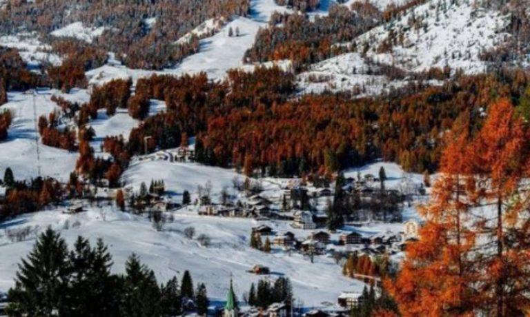 Lite per la mascherina a Cortina d'Ampezzo
