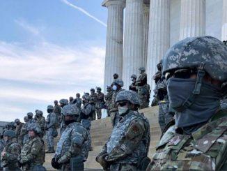Militari vicino la sede del Congresso Usa