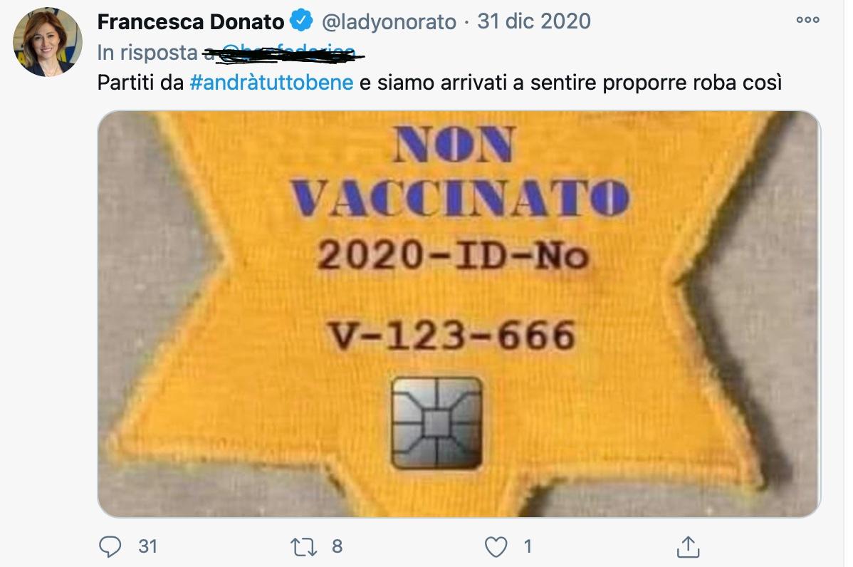 post vaccino francesca donato