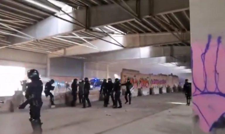 Rave party a Barcellona, interviene la polizia