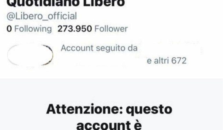 Twitter limita account Libero