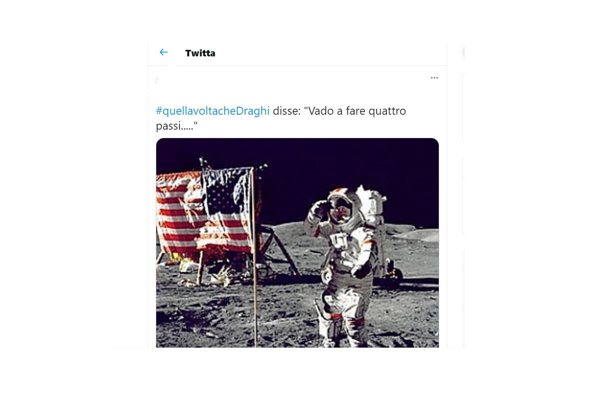 Mario Draghi, scoperta della luna