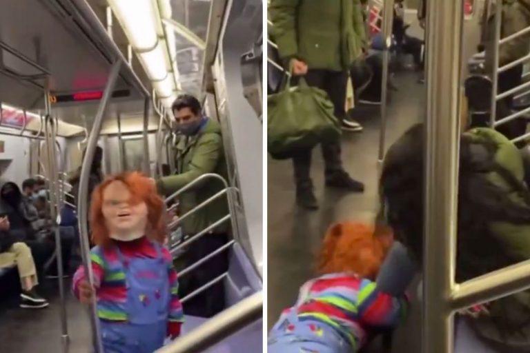 Chucky attacca chi senza mascherina