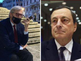Consultazioni Draghi Sgarbi cellulare