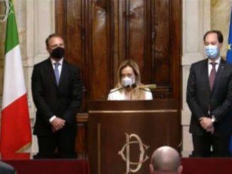 """Governo, Meloni: """"No fiducia a Draghi"""" ma apre a governo di scopo"""