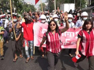 Myanmar, proteste dei cittadini contro il colpo di stato militare