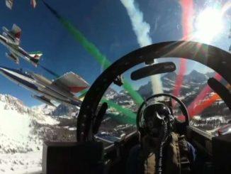 Cortina 2021, sorvolo delle Frecce Tricolori sui Mondiali di sci