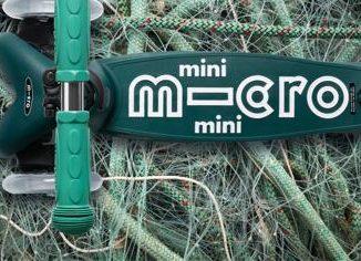 Monopattini green, quelli per bambini sono realizzati con reti da pesca