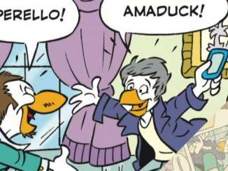L'omaggio di Topolino a Sanremo con Amaduck e Rosario Paperello
