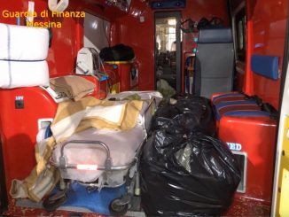 Messina, 30 kg di marijuana in un'ambulanza