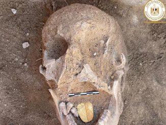 Egitto mummie foglia d'oro