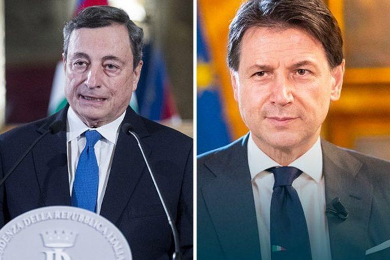 Sondaggi meglio Draghi o Conte