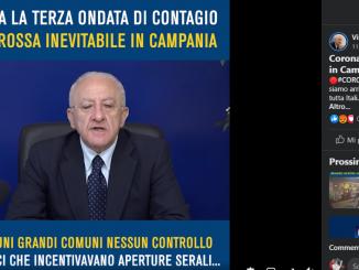 Post e video di De Luca sulla zona rossa