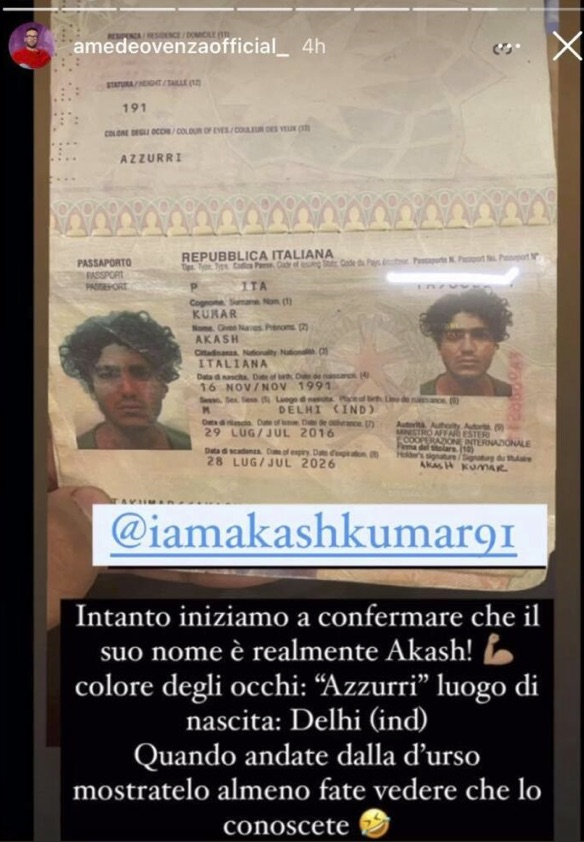 Akash passaporto