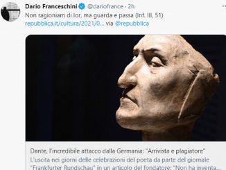 """Dante nel mirino di un quotidiano tedesco: """"Non ha inventato nulla"""""""