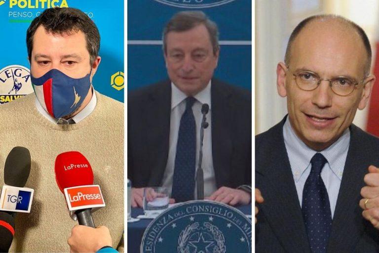 Draghi Letta attacchi Salvini