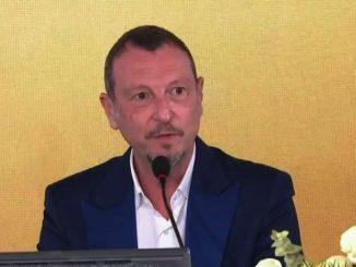Sanremo, Amadeus: Ariston senza pubblico come stadio senza tifosi