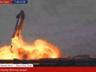 Spazio, la Starship Sn10 di SpaceX atterra ma esplode subito dopo