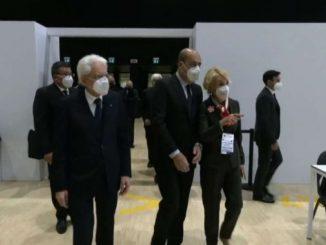 Presidente Mattarella visita il nuovo Centro vaccinale anti Covid
