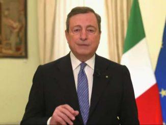Draghi: Covid non è sconfitto ma via d'uscita non lontana