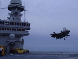 """Difesa, primi appontaggi degli F-35B Usa sulla portaerei """"Cavour"""""""