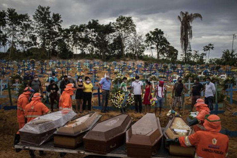 Record di morti quotidiani in Brasile: 3650 con 84.245 nuovi contagi