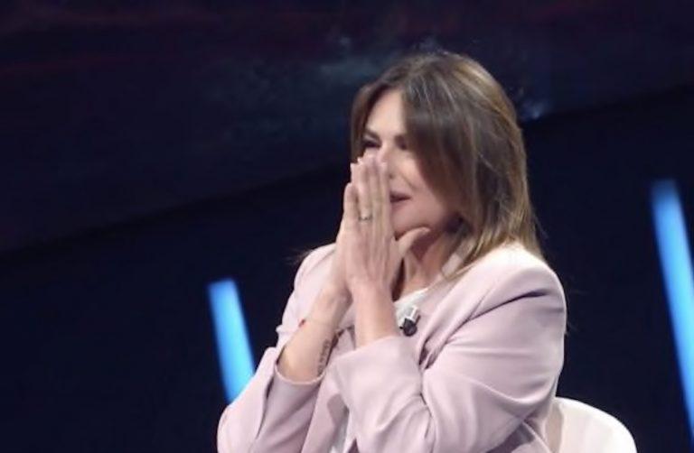 Paola Perego lacrime