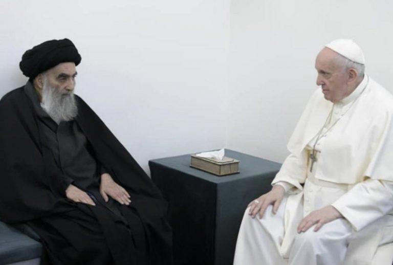 Papa Francesco incontro Al-Sistani