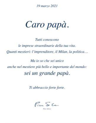 Pier Silvio Berlusconi festa del papà