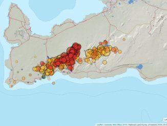record dei terremoti in islanda