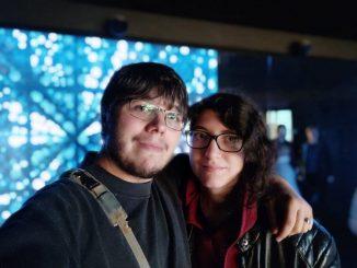Simone Gasparo e la compagna Stefania