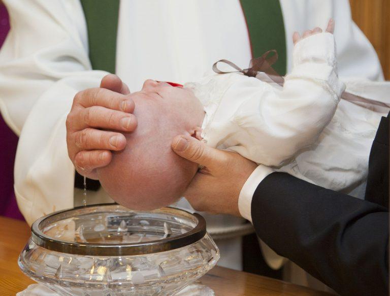Rissa al battesimo
