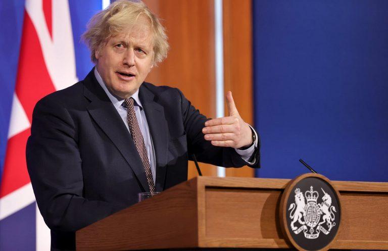 Annuncio di governo e premier Johnson