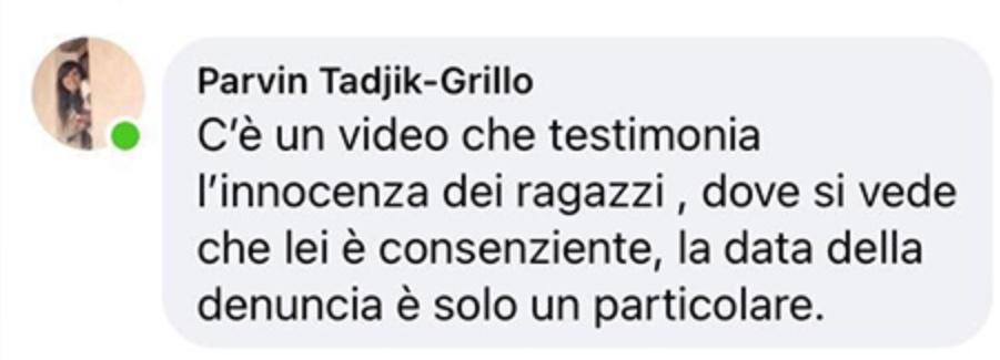 Commento moglie Grillo